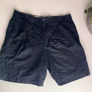 Club Room casual black linen shorts pleat front 38
